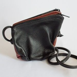 Tom Thomas Leathers Mini Angle Double Pouch Purse,